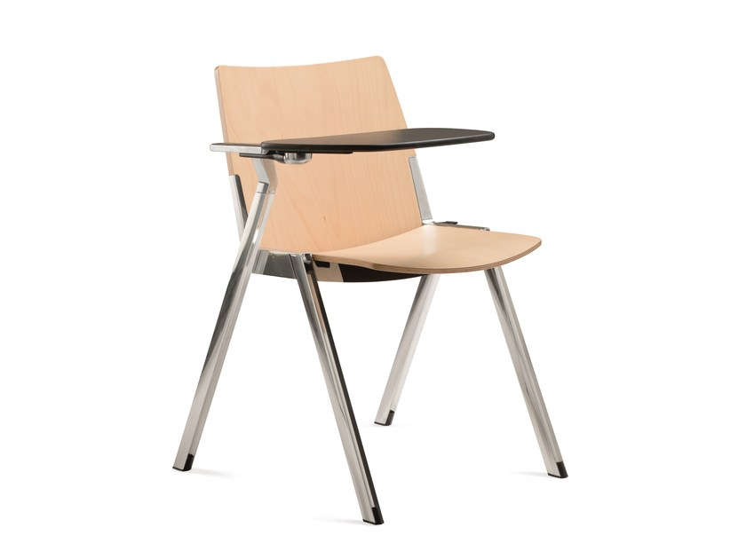 Stackable training chair with writing tablet CAVEA | Training chair with writing tablet by Emmegi