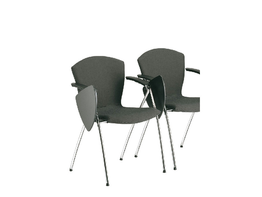 Fabric training chair with writing tablet TA-CHERIE   Training chair with writing tablet by Sesta