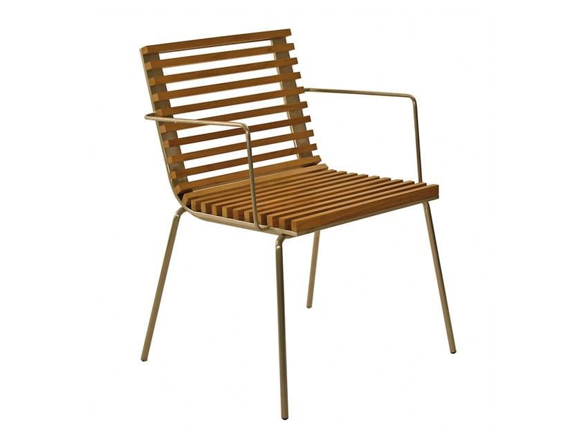Teak garden chair TRAMA | Garden chair by calma
