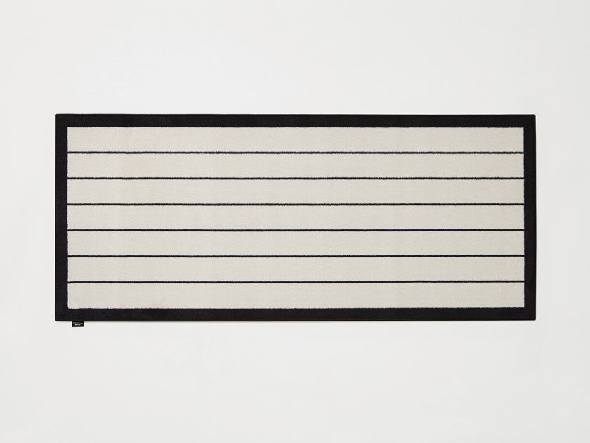 Rectangular striped velvet rug TRAMATO TR440 by Antonio Lupi Design