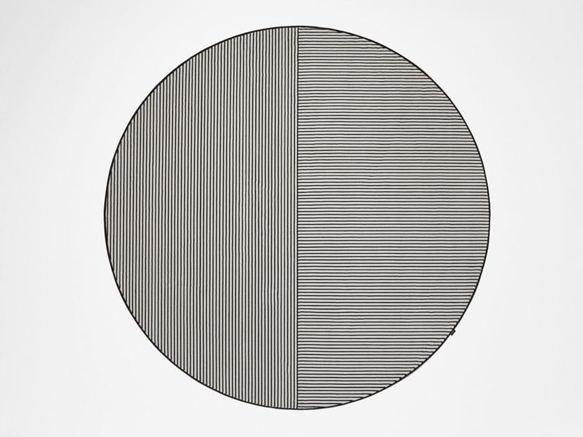 Round striped velvet rug TRAMATO TR821 by Antonio Lupi Design
