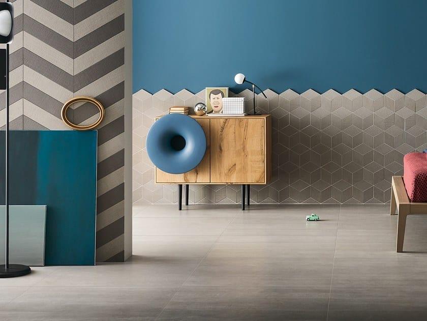 Full-body porcelain stoneware flooring TRAME CHEVRON by LEA CERAMICHE