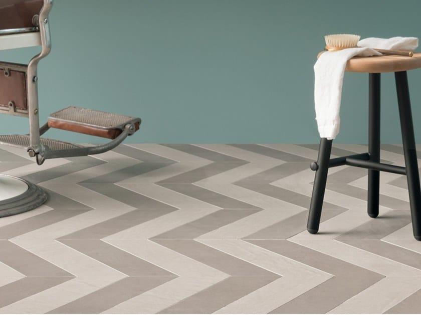 Full-body porcelain stoneware flooring TRAME CHEVRON PLATA B by LEA CERAMICHE