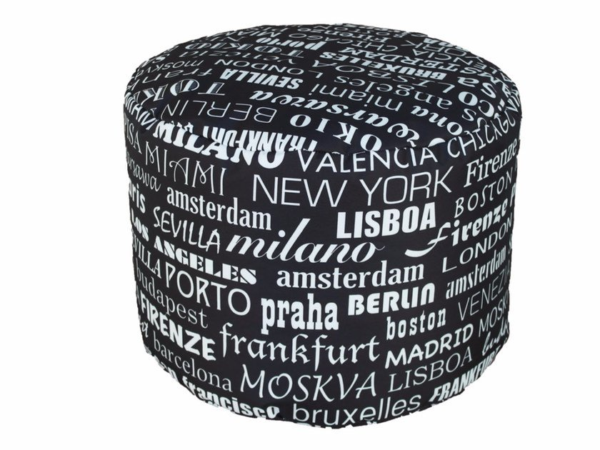 Fabric pouf TRAMONTANA MINIRONDE by Be Different