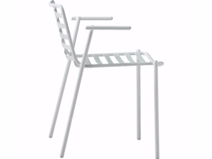 Garden chair with armrests TRAMPOLIERE P OUT | Chair with armrests by Midj