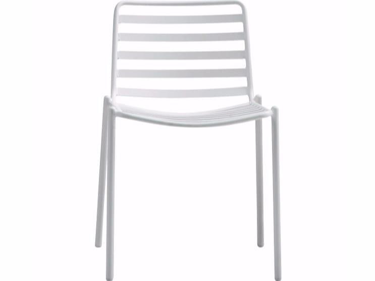 Steel garden chair TRAMPOLIERE S EX | Metal chair by Midj