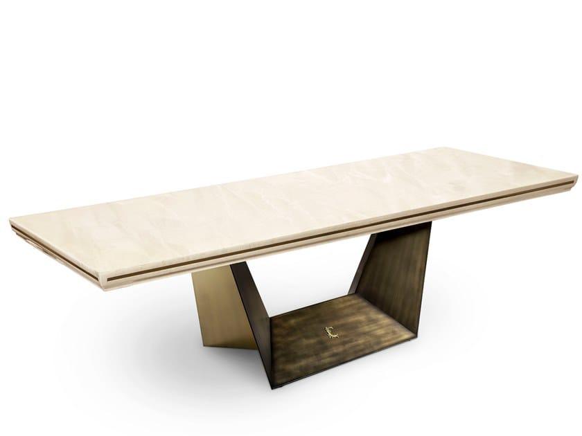 Marble table TRAPEZIO by Cantori