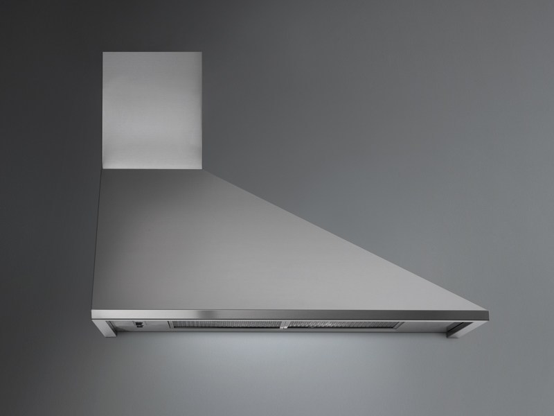 Wall-mounted stainless steel cooker hood TRAPEZIO by Falmec