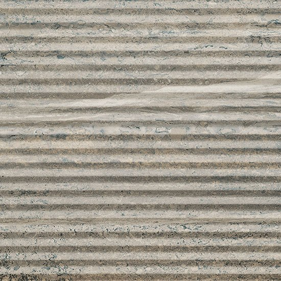 Porcelain stoneware wall/floor tiles with stone effect TRASTEVERE VIBRATO LINEE GREY by Ceramica Fioranese