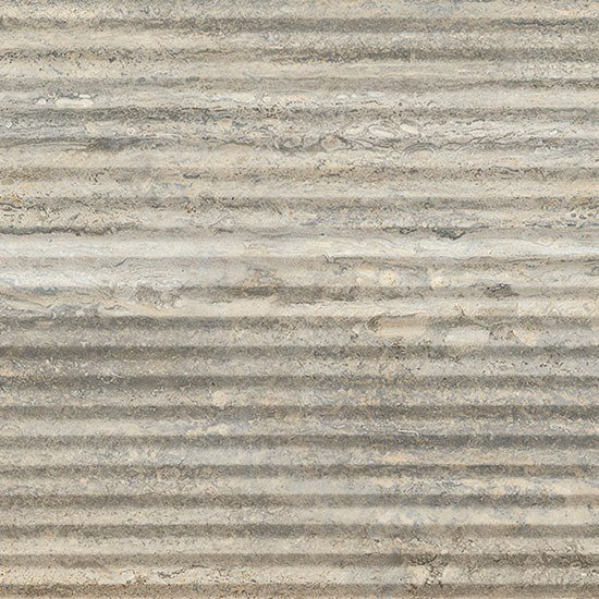 Porcelain stoneware wall/floor tiles with stone effect TRASTEVERE VIBRATO LINEE SILVER by Ceramica Fioranese