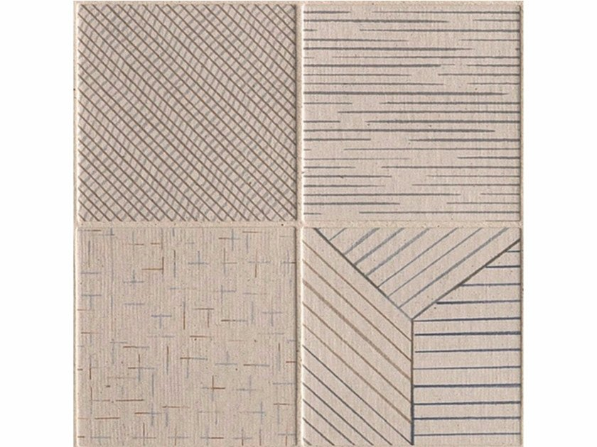 Porcelain stoneware wall/floor tiles TRATTI MIX CHIARO by MUTINA