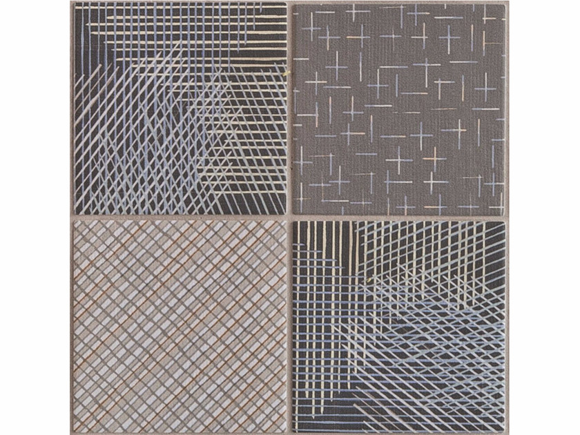 Porcelain stoneware wall/floor tiles TRATTI MIX SCURO by MUTINA