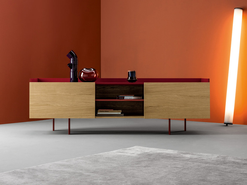 Wooden sideboard with doors TRATTO by Bonaldo