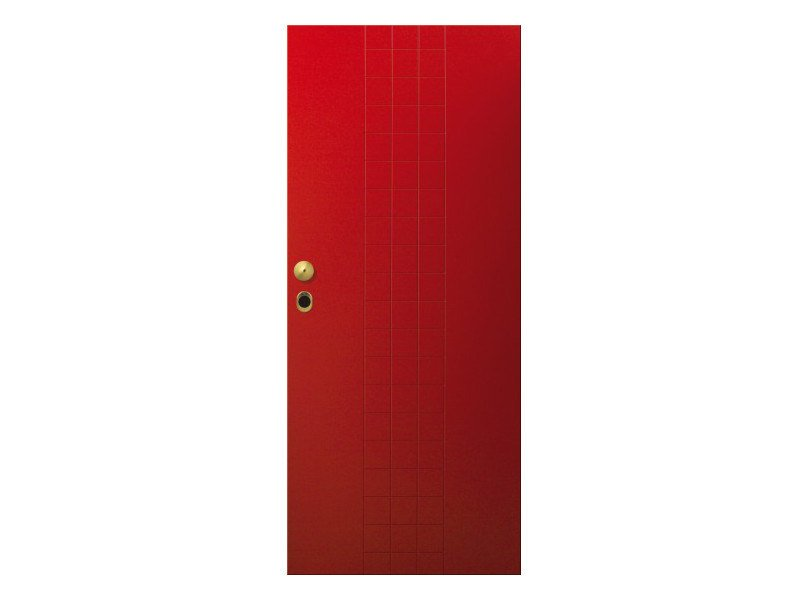 Door panel for indoor use LINEA TRATTO by Metalnova