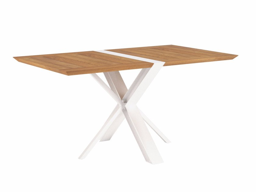 Table de jardin pliante rectangulaire en teck TRAVERSE By ...