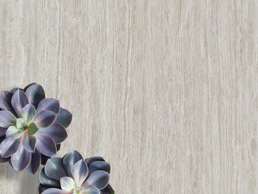 Pavimento/rivestimento in ceramica sinterizzata effetto marmo TRAVERTINO GREY by Arklam