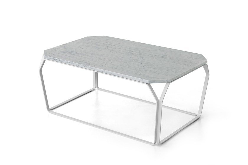Rectangular Carrara marble coffee table TRAY 3 | Carrara marble coffee table by meme design