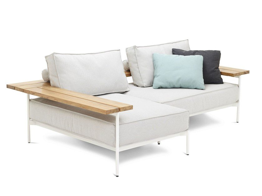 Corner sectional sofa TRAY | Sofa by Gloster