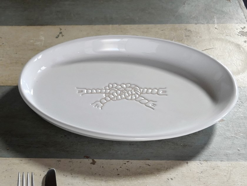 Oval ceramic tray I GRAFFITI | Tray by Cerasarda