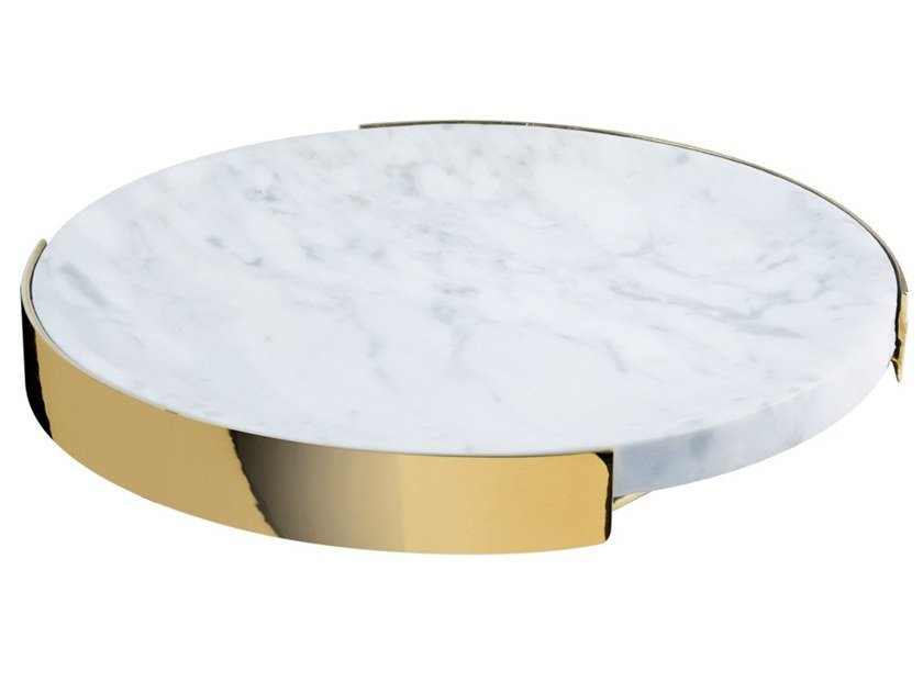 Round marble tray Round tray by RED EDITION