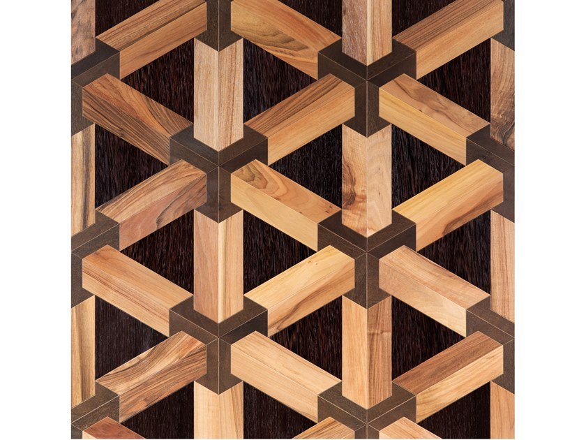 Italian walnut, Wenge and Stained oak wall/floor tiles TRE-D LEGNO by Palazzo Morelli