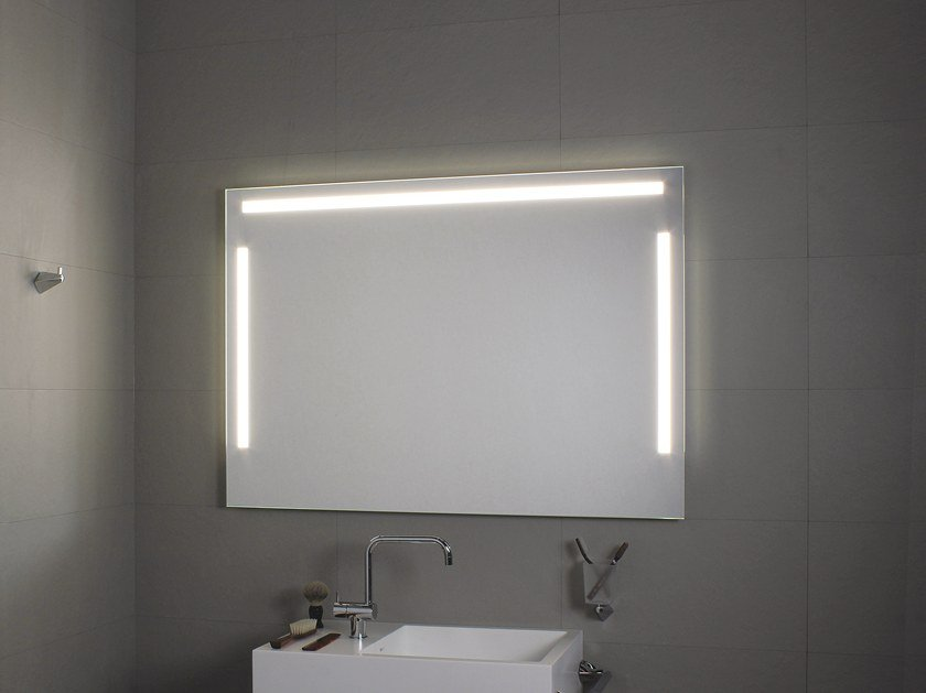 Bathroom mirror with integrated lighting TRE LUCI LED by KOH-I-NOOR