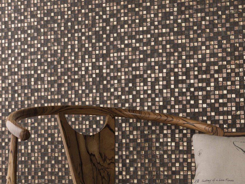 Natural stone and glass mosaic TREASURES by L'ANTIC COLONIAL