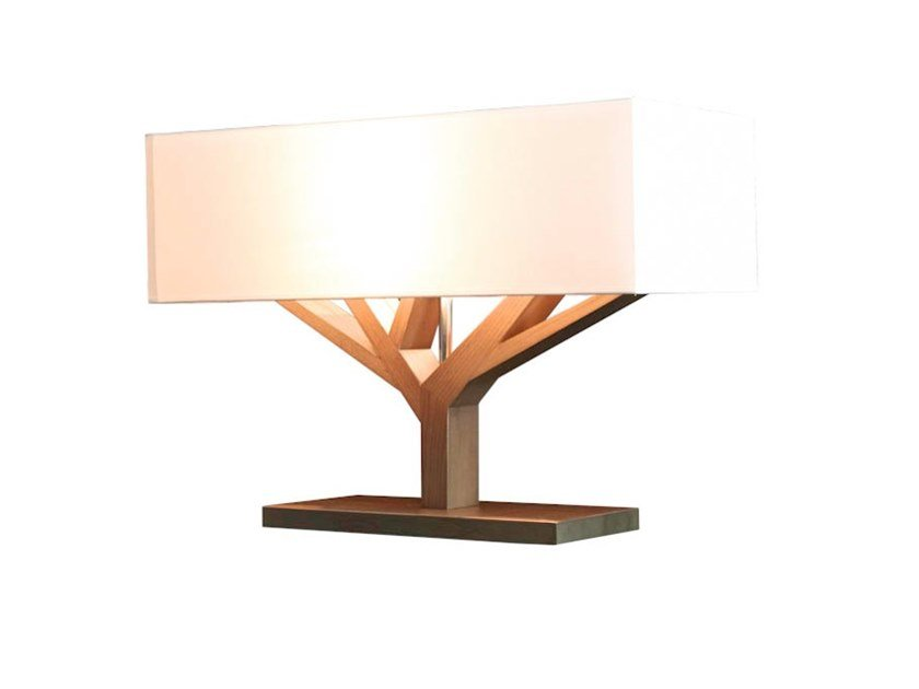 Wooden table lamp TREE by Flam & Luce