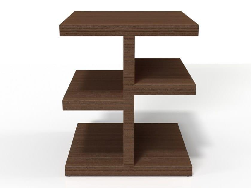 Wood veneer side table TREE by HMD INTERIORS