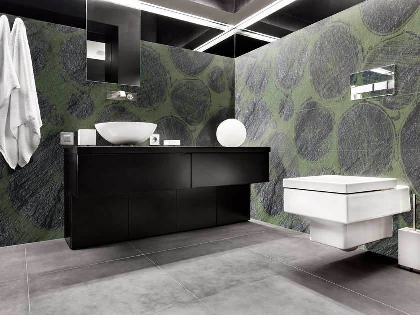 Glass-fibre bathroom wallpaper TREE LAVAGNA by Wall LCA