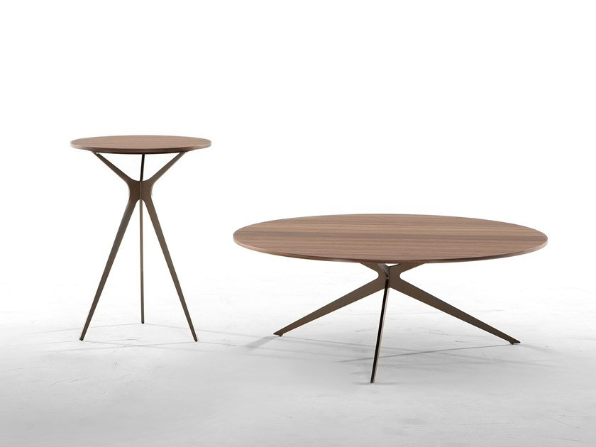 Round wooden coffee table TREE by Tonin Casa