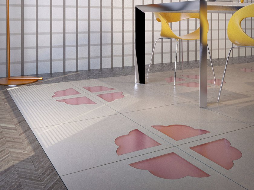 Porcelain stoneware and glass flooring TREEF by VETROVIVO