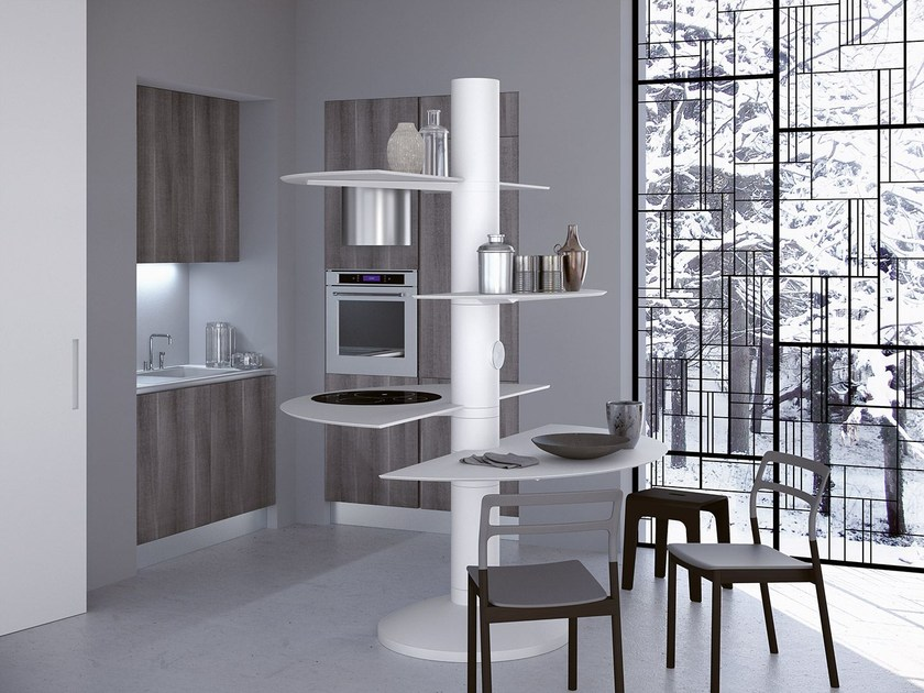 Cucina componibile laccata TREESTYLE ONE by Oikos Cucine