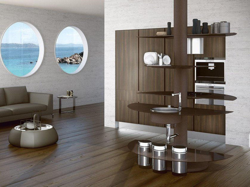 Lacquered fitted kitchen TREESTYLE by Oikos Cucine