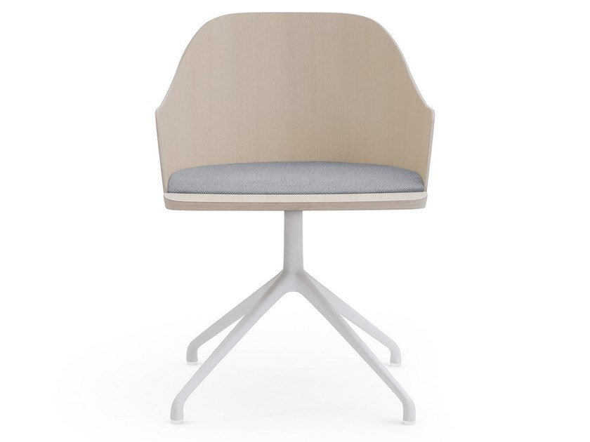 Trestle-based ash chair with integrated cushion FITT CLASSIC | Trestle-based chair by Billiani
