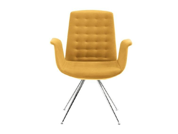 Trestle-based reception chair MODÀ STYLE | Trestle-based chair by Sesta