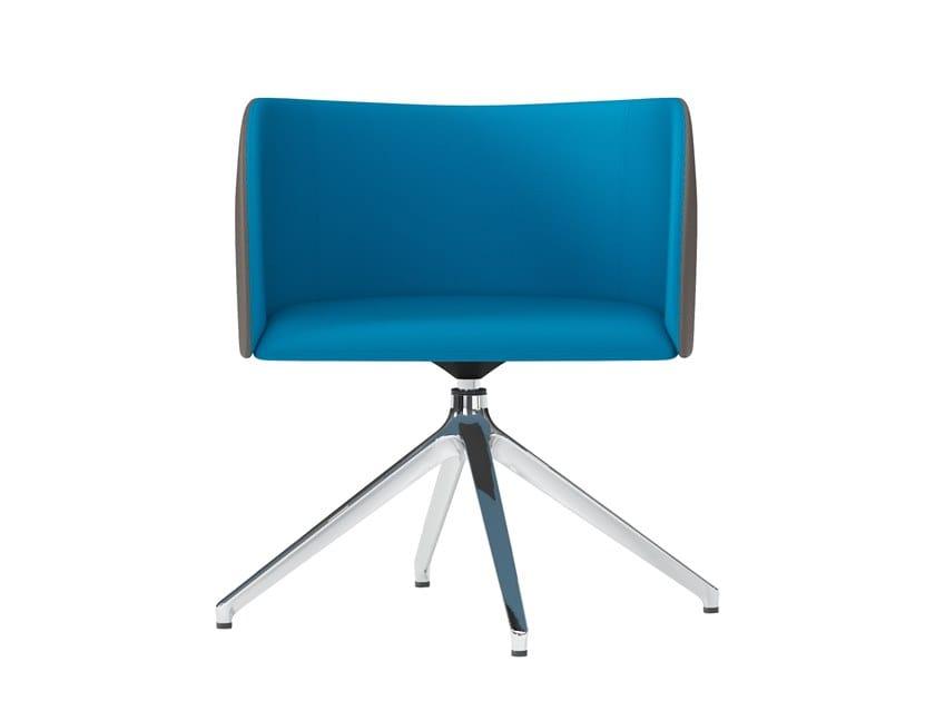 Swivel trestle-based easy chair ROUND   Trestle-based easy chair by Arte & D