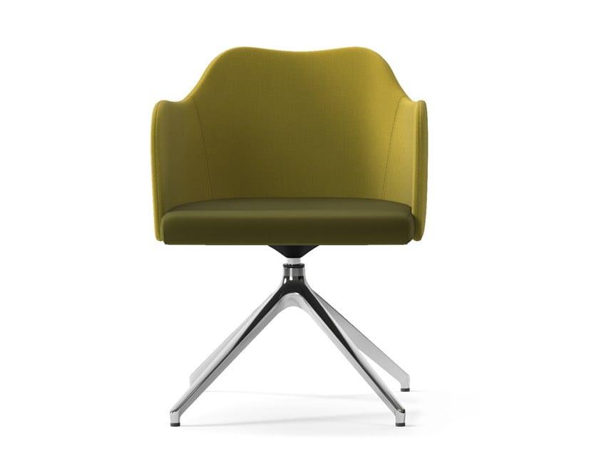 Swivel trestle-based easy chair BLITZ | Trestle-based easy chair by Arte & D