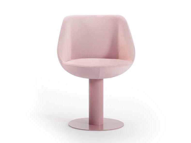 Upholstered trestle-based fabric easy chair MAGNUM | Trestle-based easy chair by Sancal