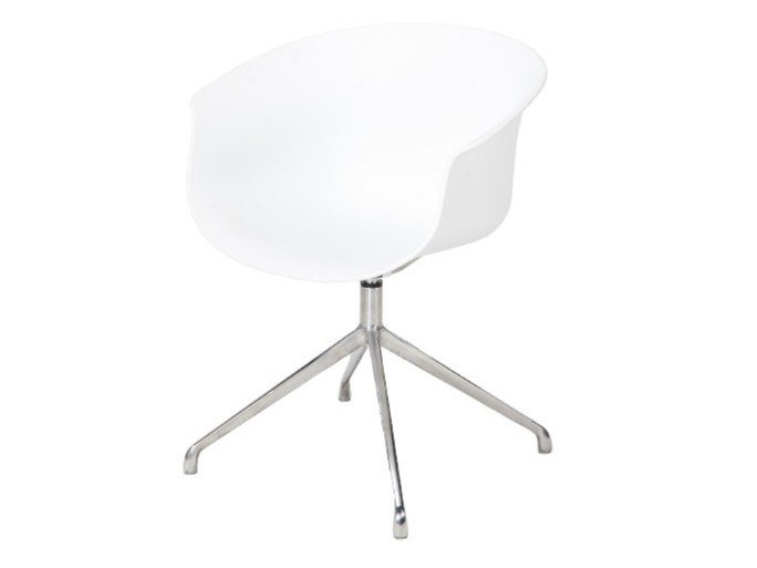 Trestle-based polypropylene office chair with 4-Spoke base QUEEN | Trestle-based office chair by grado design