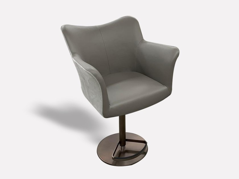 High leather stool with gas lift JENN   Stool with gas lift by MORADA