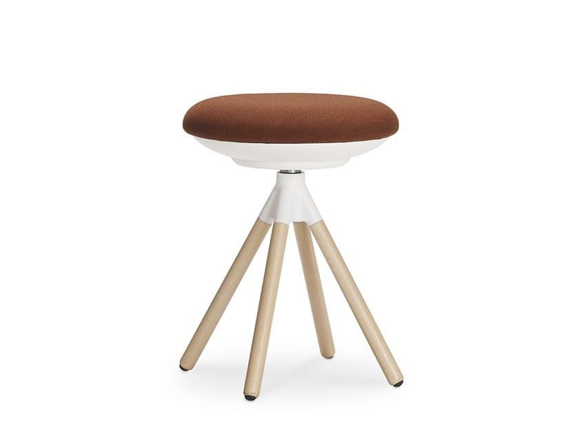 Swivel trestle-based stool ON | Trestle-based stool by Sitland