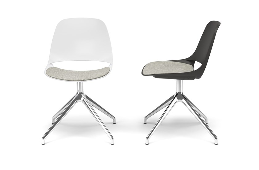 Trestle-based chair with integrated cushion ECLIPSE | Trestle-based chair by Diemmebi