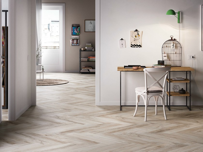 Porcelain stoneware flooring with wood effect TREVERMADE by MARAZZI