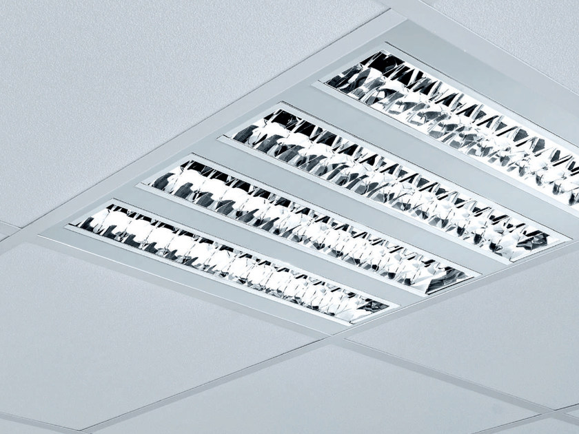 LED steel Lamp for false ceiling TRIADE-R | Recessed ceiling lamp by Plexiform