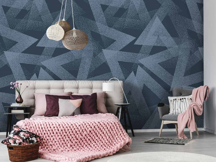 Geometric Digital printing wallpaper TRIANG by LGD01