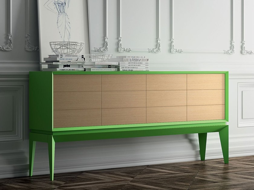 Beech sideboard with drawers TRIANGLE SOFT | Sideboard with drawers by BeKreative