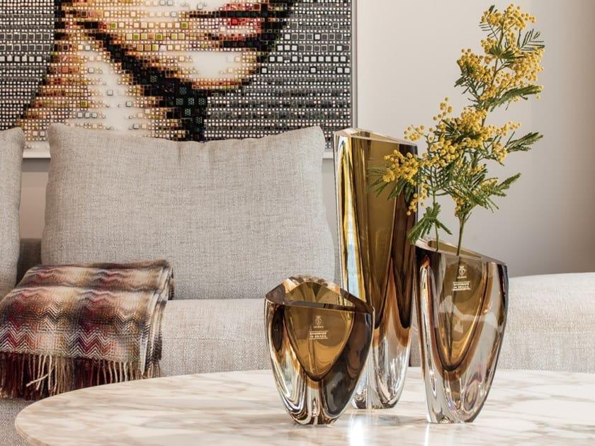 Glass Vase Triangle Vase Glass Collection By Gardeco Design Seguso Family Cá D Oro