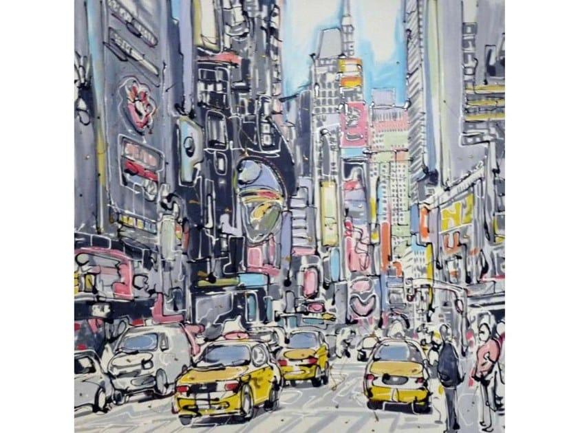 Canvas Painting Triangular World by NOVOCUADRO ART COMPANY