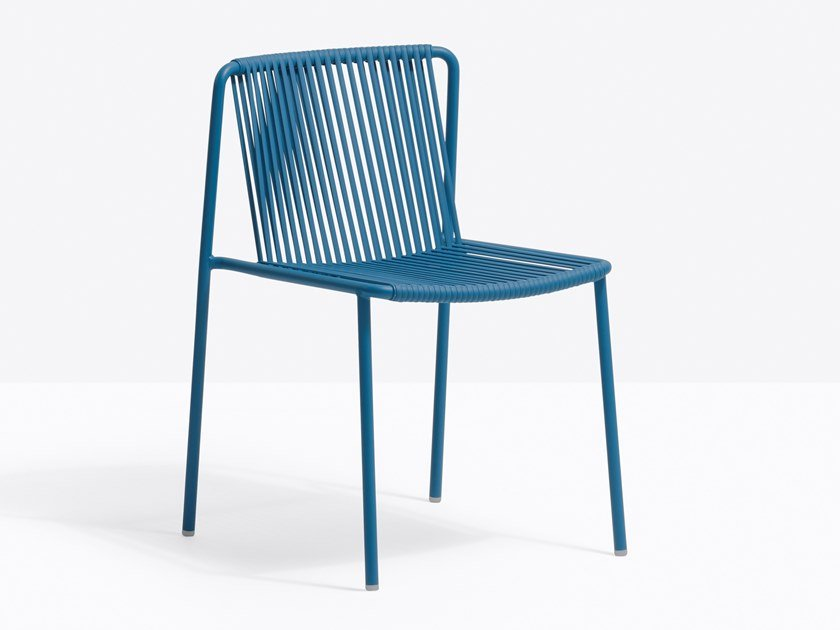 Powder coated steel garden chair TRIBECA 3660 by PEDRALI